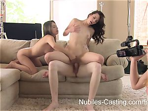 Nubiles audition - An sudden threesome for nubile