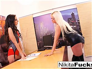 Nikita's lesbian office smash