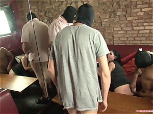 Michelle Thorne and young breezy gang-fuck plow with group