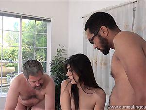 Audrey Royal and husband enjoy giant ebony penis inside Her