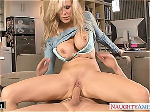 ash-blonde Julia Ann gets torn up and facialized