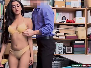 scorching Latina Sophia Leone gets her muff boinked by officers yam-sized shaft so hard