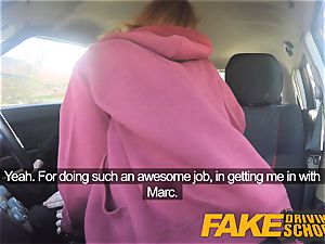 fake Driving school cute ginger-haired Ella Hughes smashes