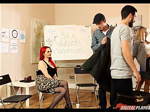 fuck-fest maniacs anonymous gets a bit molten with Jasmine James and Danny D