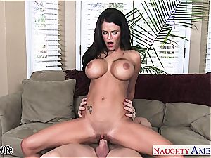 chesty wife Peta Jensen riding meatpipe