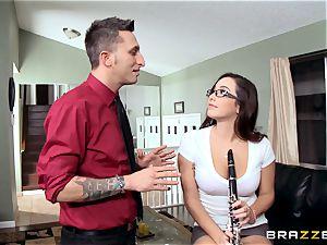 kinky schoolgirl Karlee Grey penetrates her music teacher