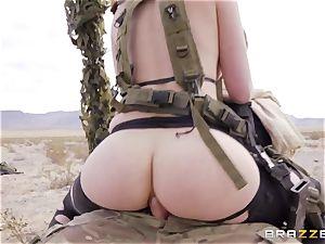 iron Gear Solid 5 assfuck porn parody with insane dark-haired Casey Calvert