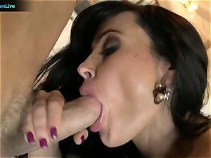 Pretty girl Lisa Ann longing for a man's fluid