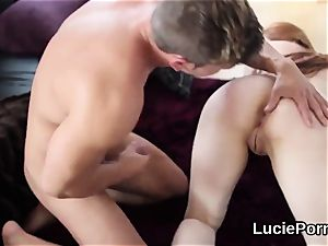 first-timer lesbo hotties get their pinkish poons licked and expanded