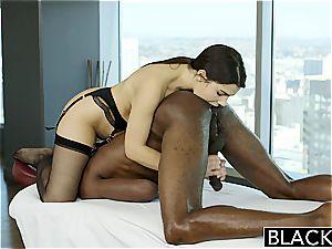 BLACKED uber-sexy Italian honey Valentina Nappi anilingus ebony guy With lust