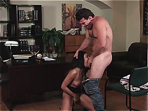 Selena Rose the office hoe helps her boss unleash the cum