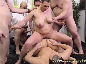 greasy nuru gang-bang fuck-a-thon