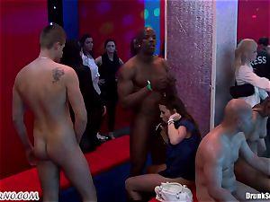 Mass porn fuck-fest in a striptease bar