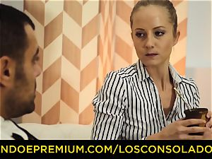 LOS CONSOLADORES - gorgeous blondes harsh foursome