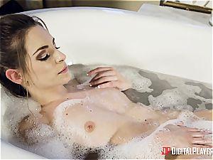 two classy honies take an exotic bathtub