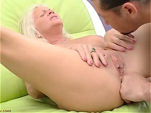 wonderful 73 years senior mother first-ever massive pink cigar assfuck shag