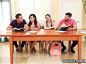 frisky daughters-in-law have something more exciting than tutoring in mind