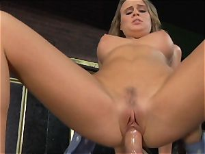 Alexis Adams penetrates the chief in the bar