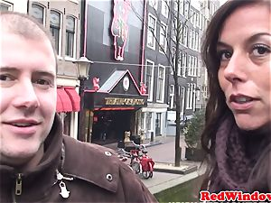 Dutch call girl dicksucking before doggy-style