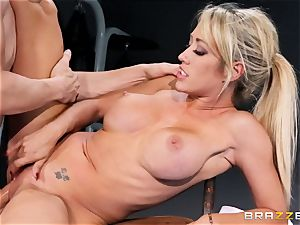 Capri Cavanni ends her workout with some thick man sausage