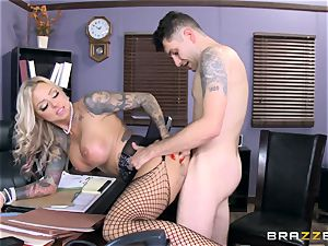 hot Headmistress Britney Shannon gets her palms on a naughty college girl
