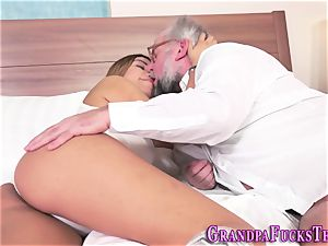 nubile blows old mans trunk