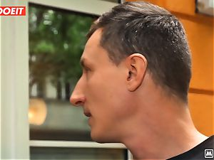 LETSDOEIT - wild Traveler penetrates fortunate German In Hostel