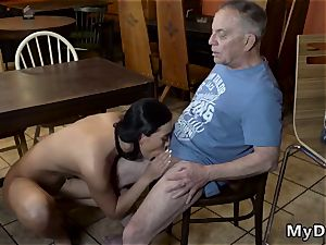 old blond Can you trust your girlpatron leaving her alone with your daddy?