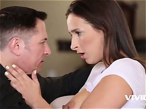 Ashley gets caught all wet and wild by her step-father