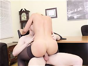 What the smash ... My huge-titted headmistress harasses me at work