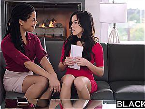 Megan Rain meets Mandingo's gigantic ebony beef whistle