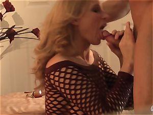 Devon Lee bopping the hard bishop of her playmate