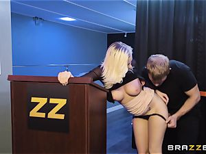 Bailey Brooke gets frolic with the hung bouncer