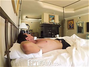 SpyFam Step daughter-in-law Piper Perri drill and internal ejaculation