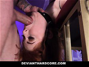 DeviantHardcore - super-steamy red-haired Gets gullet ravaged