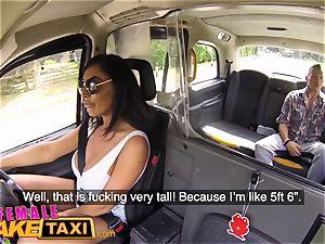 dame fake taxi gigantic titties brit Ava Koxxx guzzles
