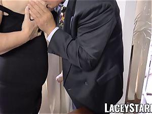 LACEYSTARR - nastiest grannie analled before popshot