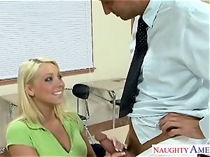 huge-titted coed Shawna Lenee nail in class