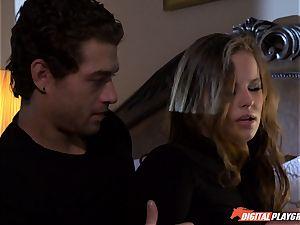 Jillian Janson cracks into dudes palace and gets beaten