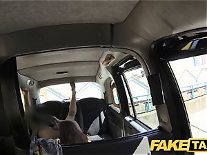 fake taxi red-haired gets messy with future sugar parent