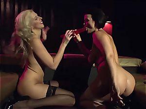 German girly-girl vixens frolicking with their vaginas