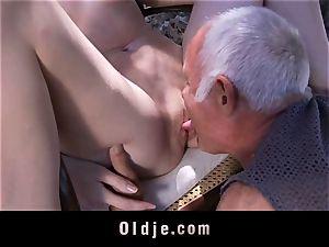 older stud fucked again by insatiable Denisa