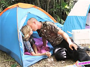 Alyssa Cole and Haley Reed swap dads on their camping tour