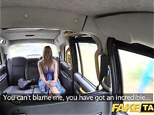 fake cab Mum with inborn funbags gets immense brit manhood