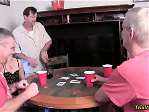 The neighborhood Poker party with Ms Paris Rose