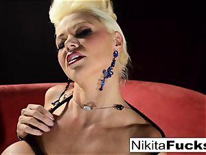 Russian milf Nikita does bondage solo with a vibrator