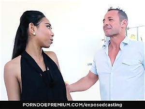 uncovered audition - chinese stunner loves red-hot FFM threeway