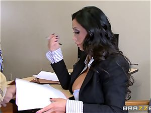 sizzling lawyer Nikki Benz getting humped by a fat cock