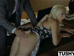 TUSHY.com wild ash-blonde anal porked by her Therapist