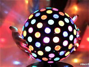 marvelous thick boobed disco ball stunner